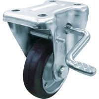 ユーエイ 産業用キャスターS付固定車 100径ゴム車輪 WKB-100R 1個 296-3728(直送品)