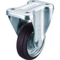 ユーエイ 産業用キャスター固定車 100径ゴム車輪 WK-100 1個 296-3761(直送品)