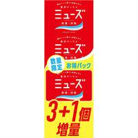 【数量限定】ミューズ石鹸 レギュラー 95g お買得パック(3+1個) レキットベンキーザー・ジャパン