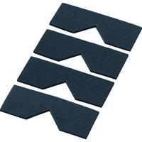 トラスコ中山(TRUSCO) エッジクッションテープ コーナー用 ブラック 4枚入 TECC-50BK 1袋(4枚) 329-2312 (直送品)