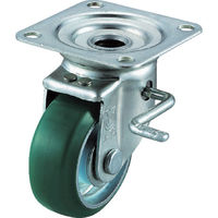 ユーエイ 産業用キャスターダブルS付自在車 100径ウレタン車輪 UWJB-100R 1個 296-3264(直送品)