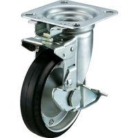 ユーエイキャスター ユーエイ 産業用キャスター旋回固定式S付自在車 150径ゴム車輪 WJK150SY 1個 296ー3612 (直送品)