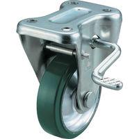 ユーエイ 産業用キャスターS付固定車 100径ウレタン車輪 UWKB-100R 1個 296-3426(直送品)