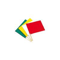 日本緑十字社 手旗 赤 300×420mm 布 245004 1本 371ー9669 (直送品)