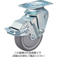 ハンマーキャスター クッションキャスター 自在SP付 ウレタン車 線径3.2mm 935BBEBLB10032BAR01  309ー3018 (直送品)