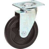 トラスコ中山 TRUSCO プレス製省音キャスター ゴム車輪 自在 Φ125 TXJ125 1個 255ー9501 (直送品)
