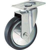 トラスコ中山 TRUSCO プレス製省音キャスター ゴム車輪・ステンレス金具 自在 Φ100 TXSJ100 1個 256ー0615 (直送品)
