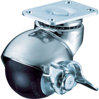 ハンマーキャスター(HAMMER CASTER) 405Pシリーズ自在SP付ゴム車50mm 40515P-R50-BAR01 1個 367-0252 (直送品)