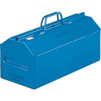 トラスコ中山(TRUSCO) 山型中皿付工具箱 461×201×261mm ブルー L450B 117-3189 (直送品)