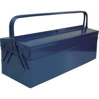 トラスコ中山(TRUSCO) 2段式工具箱 600×220×305mm ブルー GL600B 121-3563 (直送品)