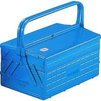 トラスコ中山(TRUSCO) 2段式工具箱 352×220×289mm ブルー GL350B 121-3539 (直送品)