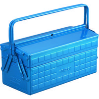 トラスコ中山(TRUSCO) 2段工具箱 350×160×260mm ブルー ST3500B 120-1140 (直送品)
