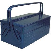 トラスコ中山(TRUSCO) 2段式工具箱 412×220×289mm ブルー GL410B 121-3547 (直送品)