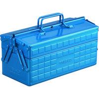 トラスコ中山(TRUSCO) 2段工具箱 350X160X215 ブルー ST-350-B 1個 120-1123 (直送品)