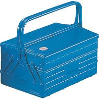 トラスコ中山(TRUSCO) 3段式工具箱 352×220×343mm ブルー GT350B 121-4179 (直送品)