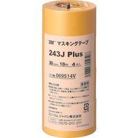 スリーエム ジャパン 3M マスキングテープ 243J Plus 30mmX18m 4巻入り 243J30  293ー1095 (直送品)