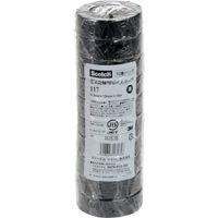 スリーエム ジャパン 3M ビニールテープ 117 黒 19mmX10m 10巻入り 117BLA1010P  342ー6955 (直送品)