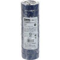 スリーエム ジャパン 3M ビニールテープ 117 青 19mmX10m 10巻入り 117BLU1010P  342ー6971 (直送品)