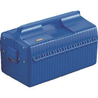 トラスコ中山(TRUSCO) プラスチック工具箱 メンテナンスBOX ブルー GS410 133-6142 (直送品)
