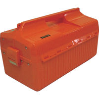 トラスコ中山(TRUSCO) プラスチック工具箱 メンテナンスBOX オレンジ GS410 133-6134 (直送品)