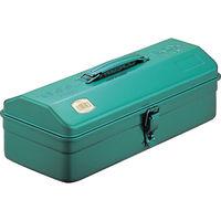 トラスコ中山(TRUSCO) 山型工具箱 373X164X124 グリーン Y-350-GN 1個 120-0976 (直送品)