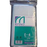 酒井化学工業 チャック付ポリエチレン袋 「ミナジップ」E-4 (200枚入) MZE-4 1袋(200枚) 000-8257 (直送品)