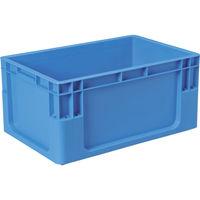 DICプラスチック DIC C型コンテナ Cー1 ボックス型 外寸:W589×D389×H280 青 C1 1個 501ー1361 (直送品)