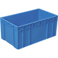 DICプラスチック RC型コンテナRC-64 外寸:W670×D390×H300 青 RC-64 B 1個 511-5965 (直送品)