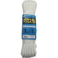 ユタカメイク ユタカ ロープ ポリエステルトラックロープ 9mm×15m TRS1 1巻 342ー0876 (直送品)