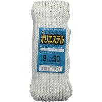 ユタカメイク(Yutaka) ロープ ポリエステルトラックロープ 9mm×30m TRS-8 1個 342-0914 (直送品)