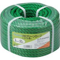 トラスコ中山 TRUSCO PEグリーンロープ 3つ打 線径9mmX長さ30m R930PEG 1巻 511ー3059 (直送品)
