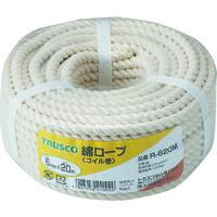 トラスコ中山 TRUSCO 綿ロープ 3つ打 線径6mmX長さ20m R620M 1巻 511ー3237 (直送品)