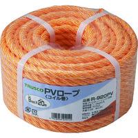 トラスコ中山 TRUSCO PVロープ 3つ打 線径9mmX長さ20m R920PV 1巻 511ー2907 (直送品)