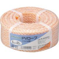 トラスコ中山 TRUSCO PVロープ 3つ打 線径6mmX長さ20m R620PV 1巻 511ー2885 (直送品)
