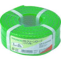 トラスコ中山 TRUSCO PEグリーンロープ 3つ打 線径6mmX長さ20m R620PEG 1巻 511ー3024 (直送品)
