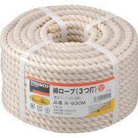 トラスコ中山(TRUSCO) 綿ロープ 3つ打 線径9mmX長さ30m R-930M 1巻 511-3261 (直送品)