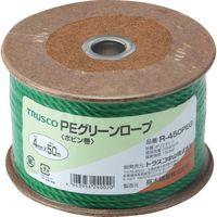 トラスコ中山(TRUSCO) TRUSCO PEグリーンロープ 3つ打 線径4mmX長さ50m R-450PEG 1巻(50m) 511-3008(直送品)