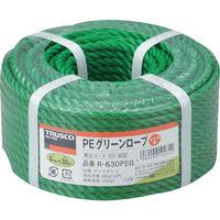 トラスコ中山(TRUSCO) TRUSCO PEグリーンロープ 3つ打 線径6mmX長さ30m R-630PEG 1巻(30m) 511-3032(直送品)
