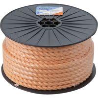 トラスコ中山 TRUSCO PVロープ 3つ打 線径16mmX長さ50m R1650PV 1巻 511ー2966 (直送品)