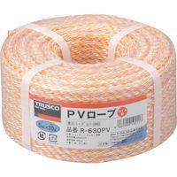 トラスコ中山 TRUSCO PVロープ 3つ打 線径6mmX長さ30m R630PV 1巻 511ー2893 (直送品)
