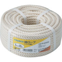 トラスコ中山 TRUSCO 綿ロープ 3つ打 線径6mmX長さ30m R630M 1巻 511ー3245 (直送品)