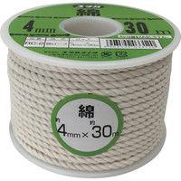ユタカメイク ユタカ ロープ 綿ロープボビン巻 4φ×30m RC2 1巻 367ー6439 (直送品)