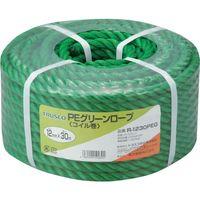 トラスコ中山 TRUSCO PEグリーンロープ 3つ打 線径12mmX長さ30m R1230PEG 1巻 511ー3075 (直送品)