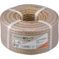 トラスコ中山 TRUSCO 麻ロープ 3つ打 線径6mmX長さ30m R630A 1巻 511ー3334 (直送品)