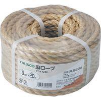 トラスコ中山 TRUSCO 麻ロープ 3つ打 線径9mmX長さ20m R920A 1巻 511ー3342 (直送品)