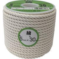 ユタカメイク ユタカ ロープ 綿ロープボビン巻 5φ×30m RC3 1巻 367ー6447 (直送品)