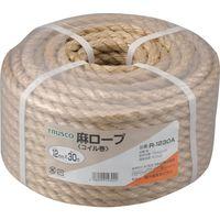 トラスコ中山 TRUSCO 麻ロープ 3つ打 線径12mmX長さ30m R1230A 1巻 511ー3377 (直送品)