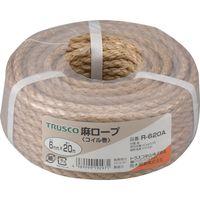 トラスコ中山 TRUSCO 麻ロープ 3つ打 線径6mmX長さ20m R620A 1巻 511ー3326 (直送品)