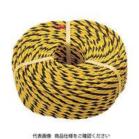 トラスコ中山 TRUSCO 標識ロープ 3つ打 線径7.5mmX長さ200m R9200T 1巻 276ー7520 (直送品)