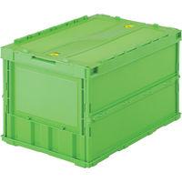 トラスコ中山 TRUSCO 薄型折りたたみコンテナ 50Lロックフタ付 グリーン TRC50B 1個 344ー9297 (直送品)